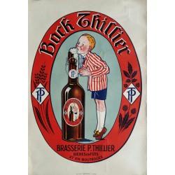 Original poster Beer Bock THILLIER Brasserie P. THILLIER