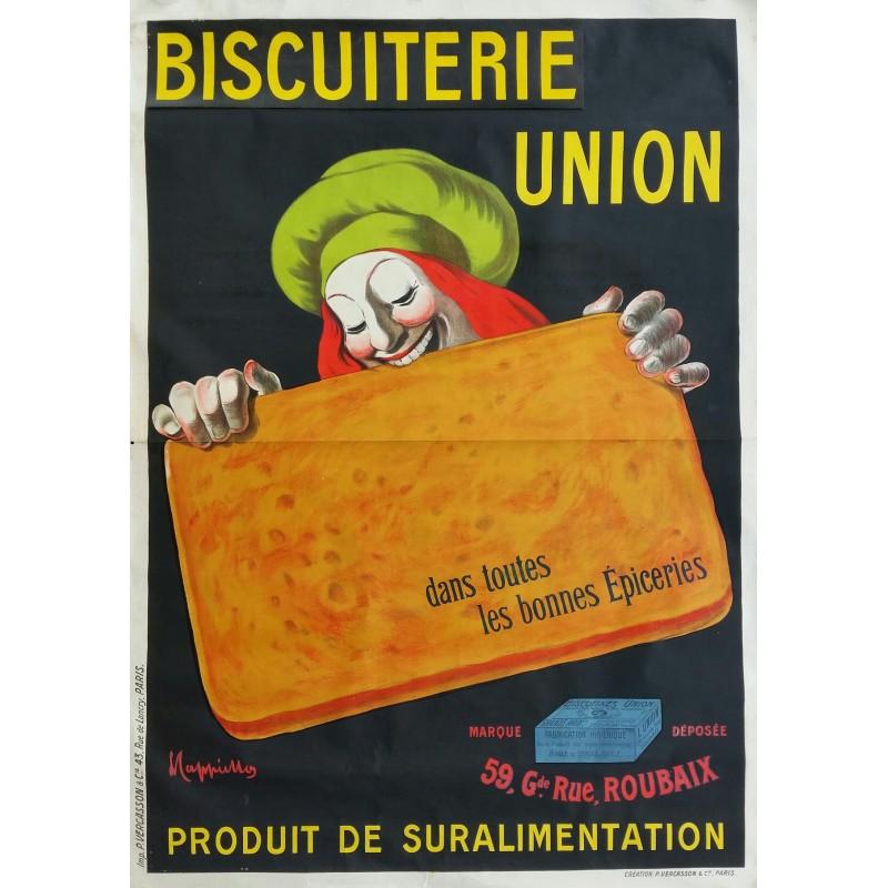 affiche ancienne originale biscuiterie union leonetto cappiello en vente chez affiche passion. Black Bedroom Furniture Sets. Home Design Ideas
