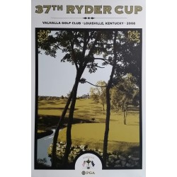 Affiche originale 37th Ryder cup Valhalla Golf Club Louisville Kentucky 2008