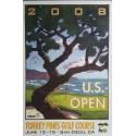 Affiche originale US Open Golf USGA Torrey Pines Golf course June 12-15 2008 - Lee Wybranski