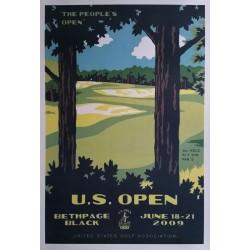 Original cartel US Open Golf USGA Bethpage Black June 18-21 2009 - Lee Wybranski