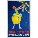 Affiche ancienne originale Spa Citron GEO 1925