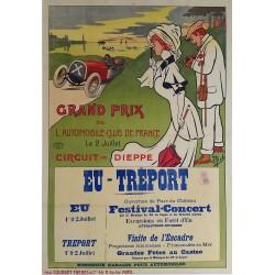 Original vintage poster Grand Prix de l'ACF Automobile Club de France 1907 - MICH