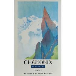 Original vintage poster CHAMONIX Mont-Blanc au centre d'un monde de cristal - SAMIVEL