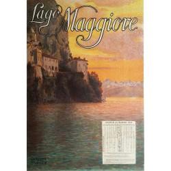 Original vintage poster Lago Maggiore 1910 - Off d Arti Grafiche Chiattone Milano