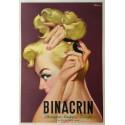 Affiche ancienne originale BINACRIN- Franco MOSCA
