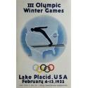 Affiche ancienne originale III Olympic Winter games Lake Placid 1932 - Wiltod GORDON