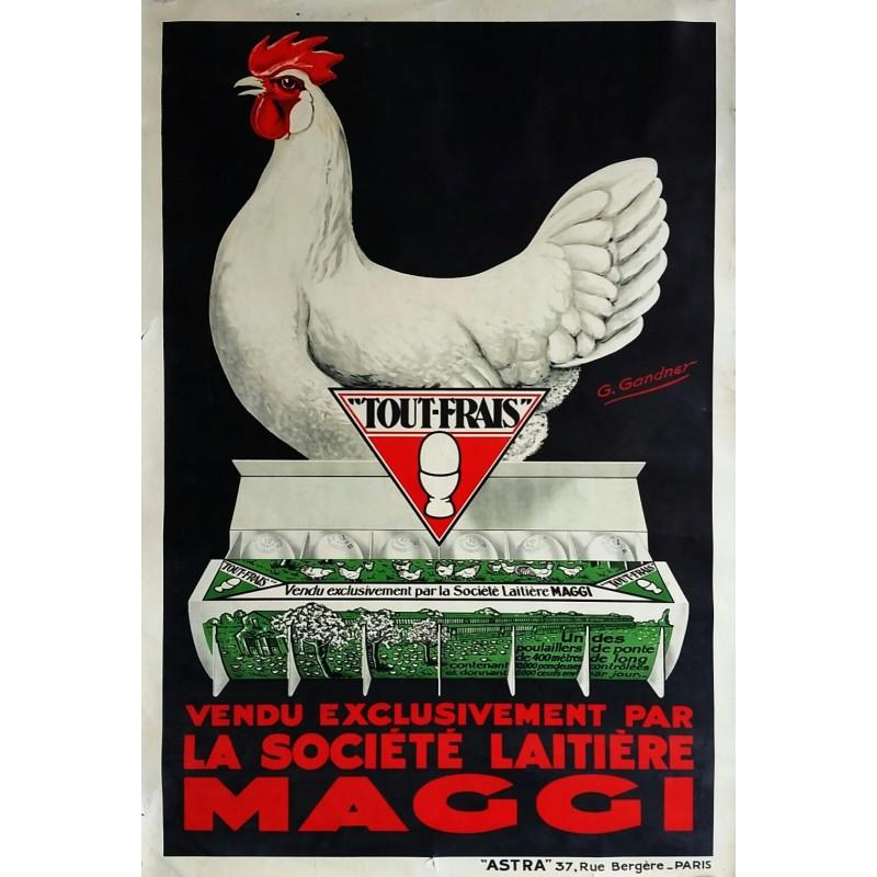 Original vintage poster Oeufs Tout Frais Société Laitière MAGGI - GANDNER