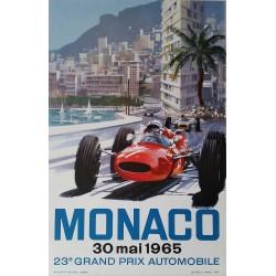 Original vintage poster Grand Prix de Monaco F1 1965 - Michael TURNER