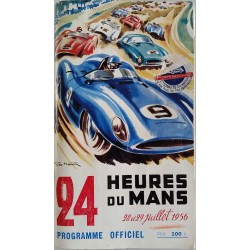 Old original program 24 heures du mans 1954 cover GEO HAM