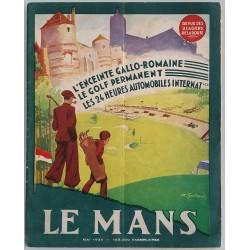 Rivista Revue des usagers de la route Mai 1935 copertina Le Golf du Mans - André GALLAND