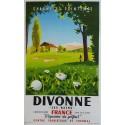 Affiche ancienne originale golf Divonne les bains - Olivier