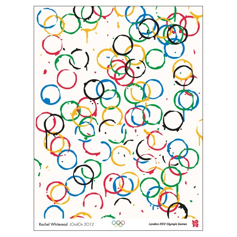 Original poster Olympic games London 2012 - Rachel WHITEREAD