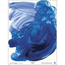 Affiche originale Jeux olympique de Londres 2012 Swimming - Howard HODGKIN