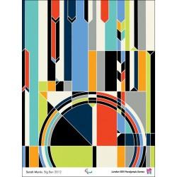 Affiche originale Jeux Paralympique de Londres 2012 Big Ben - Sarah MORRIS