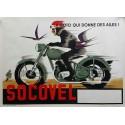 Affiche ancienne originale SOCOVEL la moto qui donne des ailes
