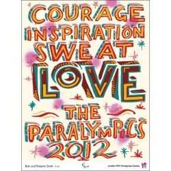 Affiche originale Jeux Paralympique de Londres 2012 Love - Bob and Roberta SMITH