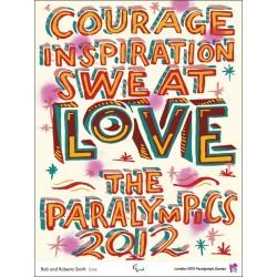 Original plakat Paralympic games London 2012 Love - Bob and Roberta SMITH