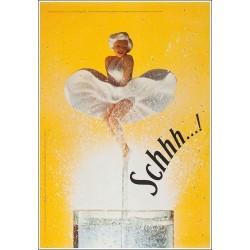 Original plakat Schweppes Marylin Schhh 170 cms x 115 cms