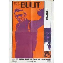 Affiche ancienne originale cinéma Bullitt Steve McQueen Yougoslavie Jugoslavija - 1968