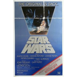 Affiche ancienne originale cinéma Star Wars is back One sheet Reissue 1982