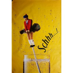 Original poster Schweppes Schhh Scottish man in kilt 67 x 45 inches