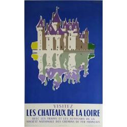 Original vintage poster Les Chateaux de la Loire JACQUELIN