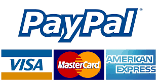 Payment 100% secure with Visa, Mastercard, American Express, Paypal