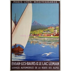 Original vintage poster Evian les Bains et le Lac Léman Geo DORIVAL