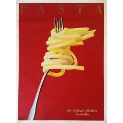 Affiche ancienne originale PASTA 1983 Razzia