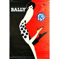 Affiche originale Bally kick - 170 cms x 120 cms - Bernard VILLEMOT