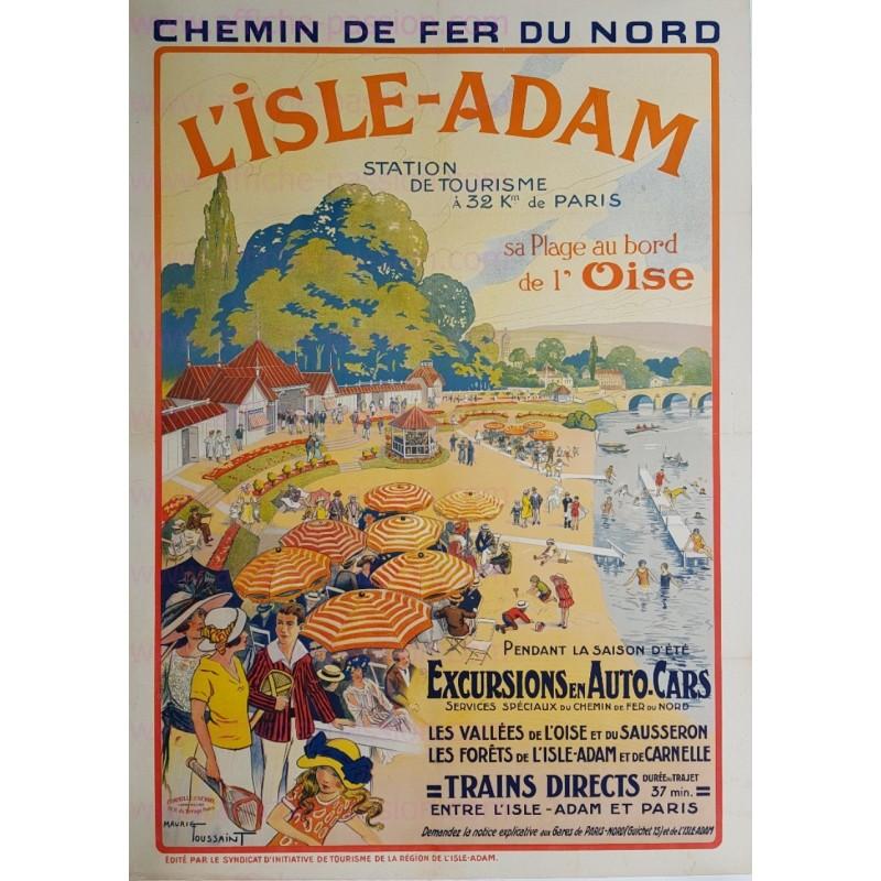 Affiche ancienne originale L'Isle Adam Oise Maurice TOUSSAINT