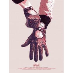 Original silkscreened poster limited edition Drive - Matthew Woodson - Mondo