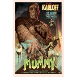 Original silkscreened poster regular limited edition The Mummy - Stan & Vince - Galerie Mondo