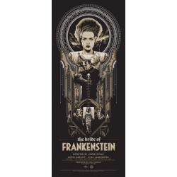 Affiche originale édition limitée variant The Brides of Frankenstein Ken TAYLOR - Galerie Mondo