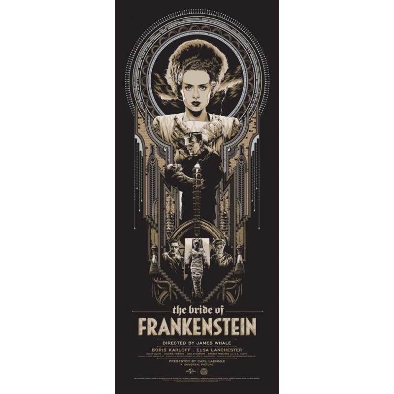 Original silkscreened poster limited edition variant print The Brides of Frankenstein Ken TAYLOR - Galerie Mondo