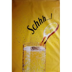 Original poster Schweppes Schhh slice of lemon 67 x 45 inches