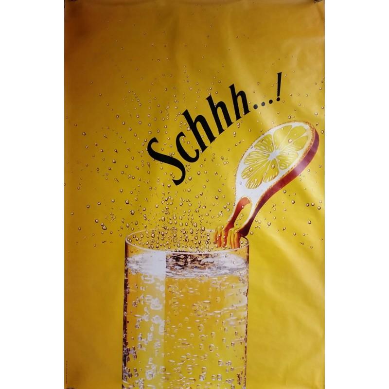 Affiche originale Schweppes Schhh rondelle de citron 170 cms x 115 cms