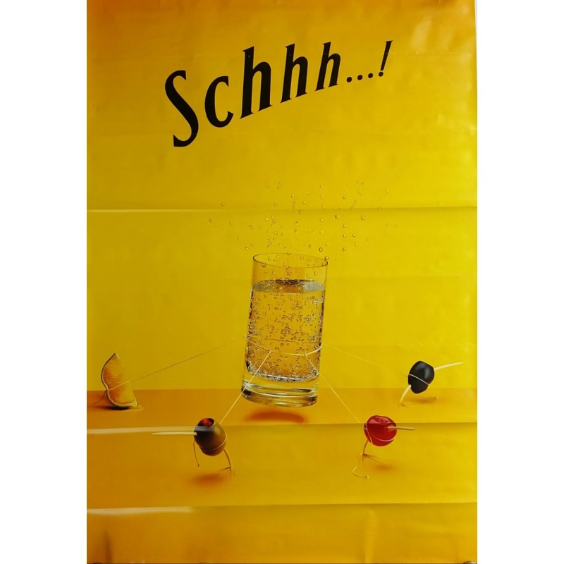 Original poster Schweppes Schhh olives 67 x 45 inches