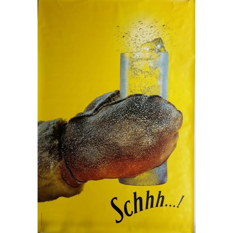 Affiche originale Schweppes Schhh gant 170 cms x 115 cms