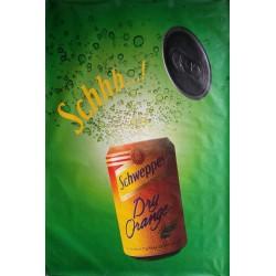 Affiche originale Schweppes Schhh dry orange 170 cms x 115 cms