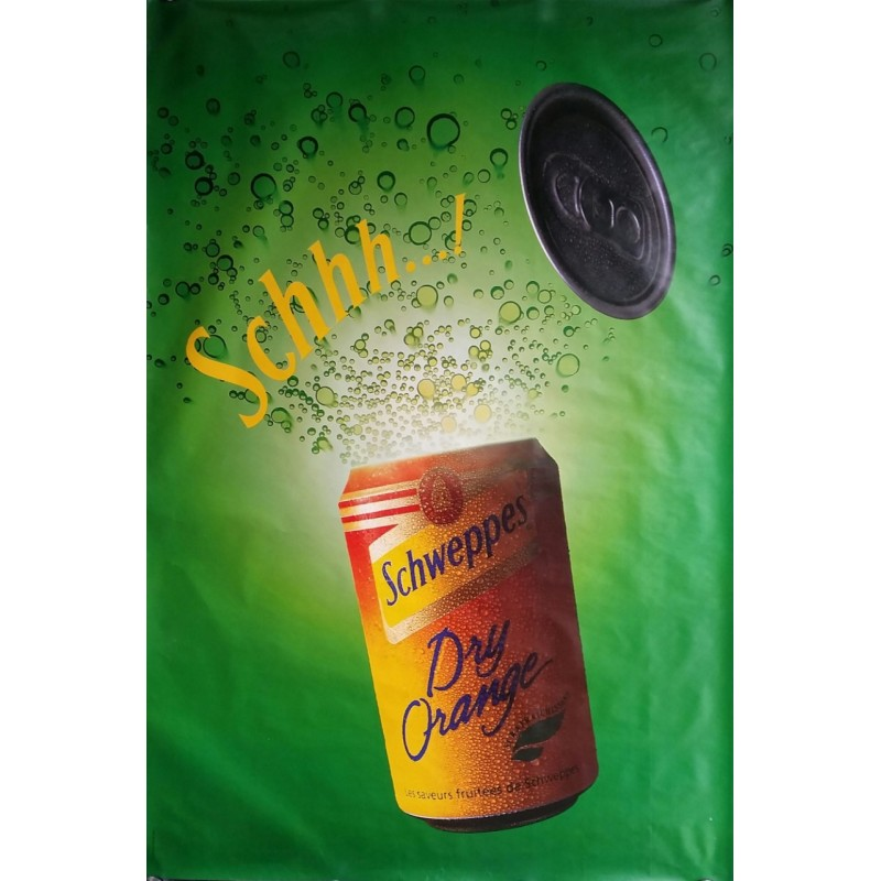 Original poster Schweppes Schhh dry orange 67 x 45 inches