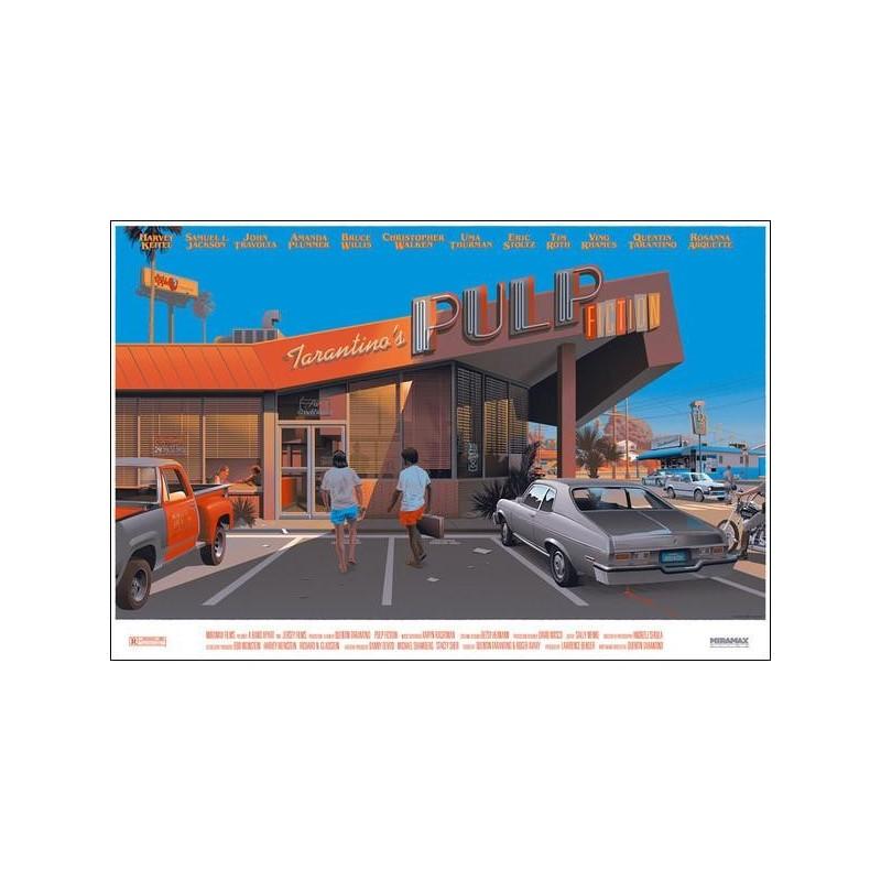 Original silkscreened poster Pulp Fiction Timed edition Laurent Durieux Mondo