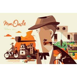 Original silkscreened poster limited Mon oncle Tom WHALEN  Nautilus Artprints