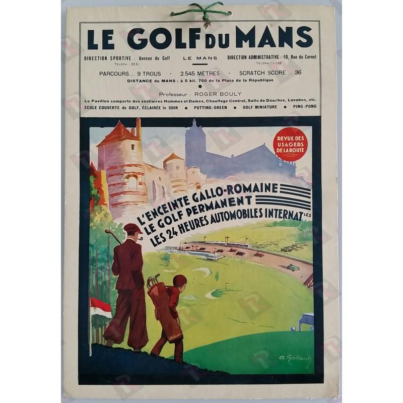 Carton publicitaire ancien original Le Golf du Mans - André GALLAND