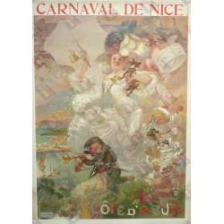 Affiche originale Côte d'azur PLM Carnaval de Nice - Adolphe WILLETTE