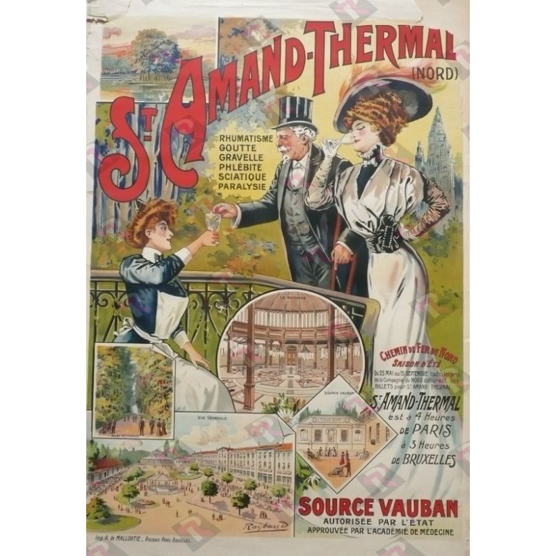 Affiche originale St Amand les Eaux