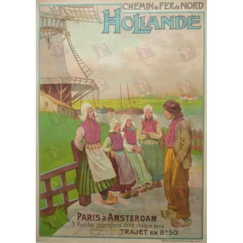 Affiche originale Hollande  Chemin de fer du nord - FRAIPONT