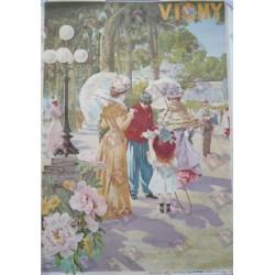 Affiche originale Vichy Imprimerie Courmont PARIS - Tanconville