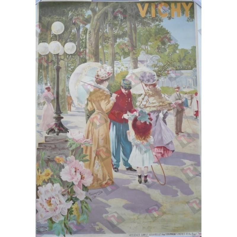 Original vintage poster Vichy Imprimerie Courmont PARIS - Tanconville